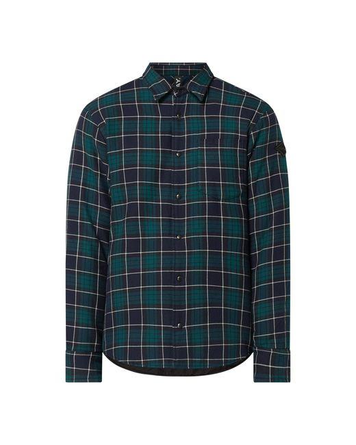 Replay Regular Fit Flanellhemd aus Baumwolle in Green für Herren