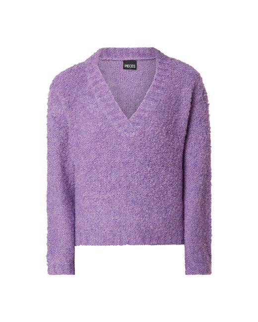 Pieces Purple Pullover mit überschnittenen Schultern Modell 'Adora'