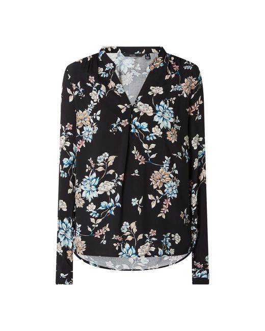 Vero Moda Black Blusenshirt mit floralem Muster Modell 'Nads'