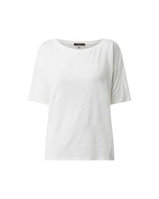 Weekend by Maxmara White Shirt aus Leinen Modell 'Rolle'
