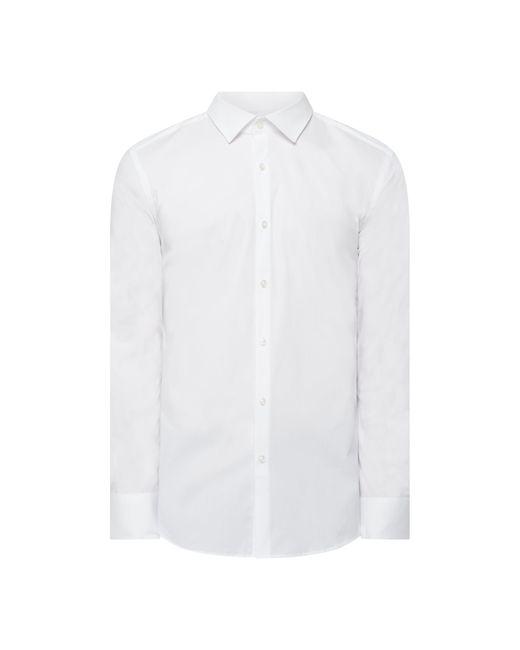 HUGO Slim Fit Business-Hemd mit Stretch-Anteil Modell 'Kenno' in White für Herren