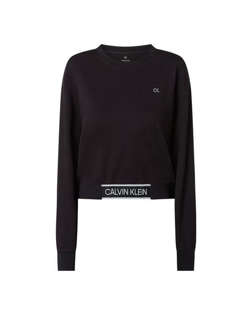Calvin Klein Black Sweatshirt mit überschnittenen Schultern