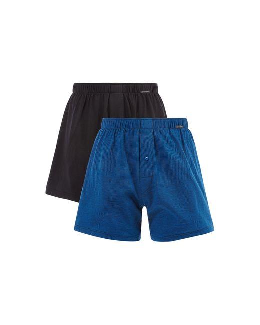 Schiesser Boxershorts aus Jersey im 2er-Pack in Blue für Herren