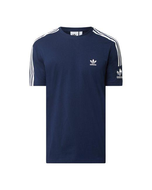 Adidas Originals T-Shirt mit Logo-Streifen in Blue für Herren