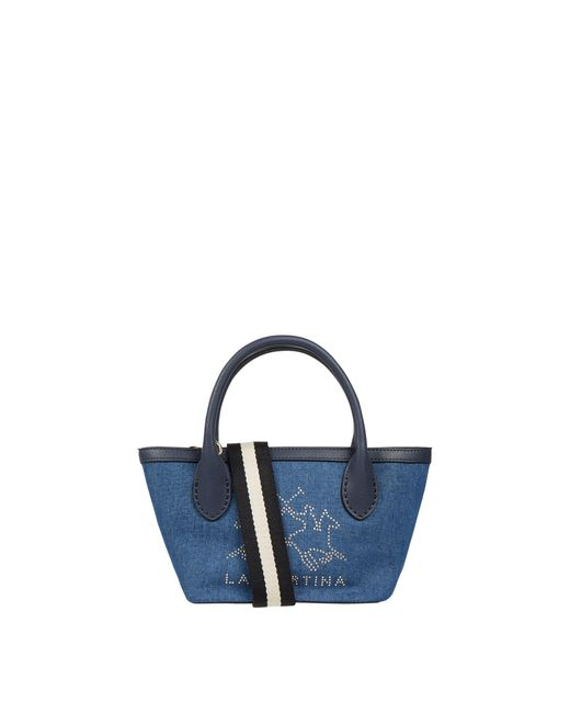 La Martina Blue Handtasche aus Denim Modell 'Fresia'