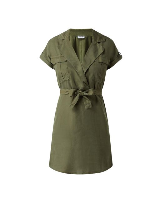 Noisy May Green Minikleid aus Lyocell Modell 'Vera'