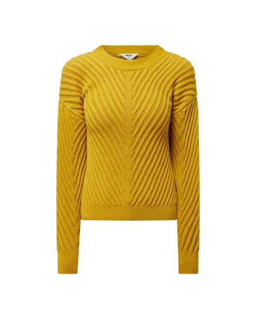 Object Pullover aus Bio-Baumwolle Modell 'Alexandra' in Yellow für Herren