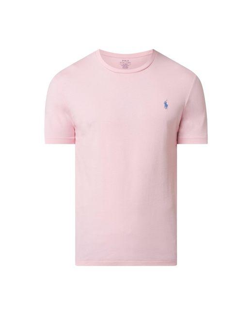 Polo Ralph Lauren Custom Slim Fit T-Shirt aus Baumwolle in Pink für Herren