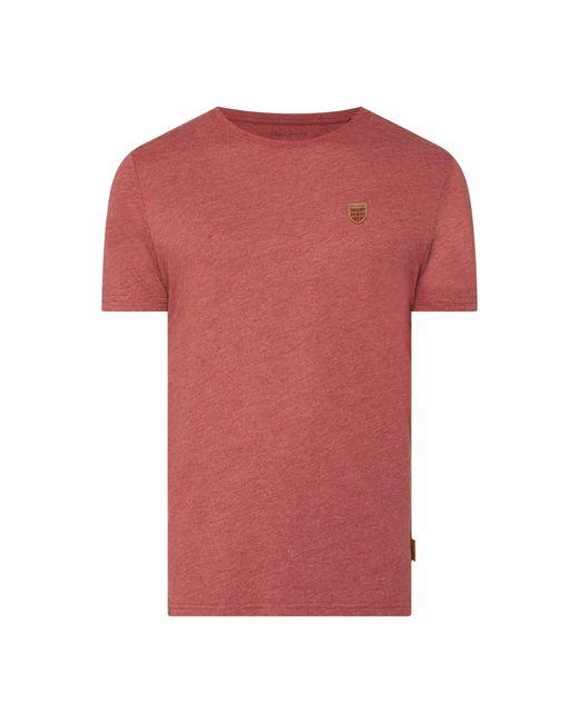 Pepe Jeans T-Shirt mit Logo-Aufnäher Modell 'Gavin' in Red für Herren
