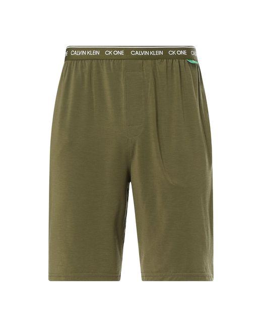 Calvin Klein Pyjama-Shorts mit Stretch-Anteil in Green für Herren