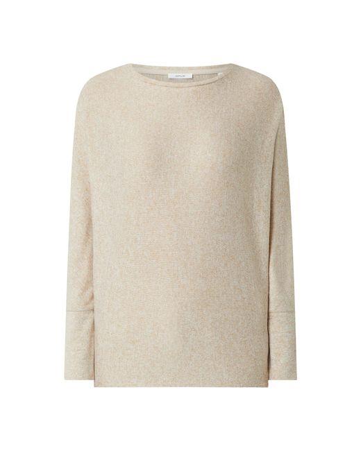 Opus Natural Pullover mit angeschnittenen Ärmeln Modell 'Sevi'