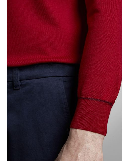 Pantalón Chino con Dobladillo Fay de hombre de color Blue