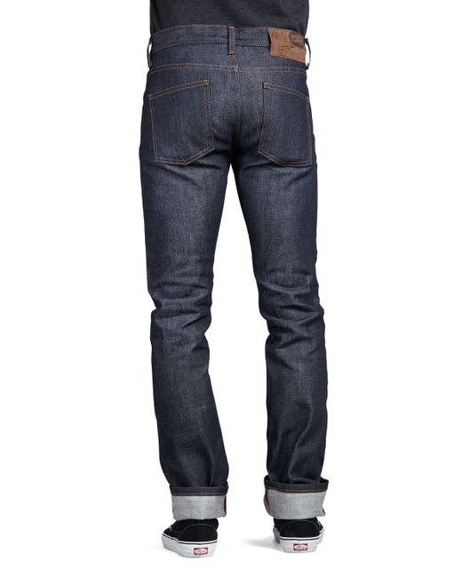 Naked  Famous Skinny Guy-Dirty Fade Selvedge Jeans In Blue For Men  Lyst-8394