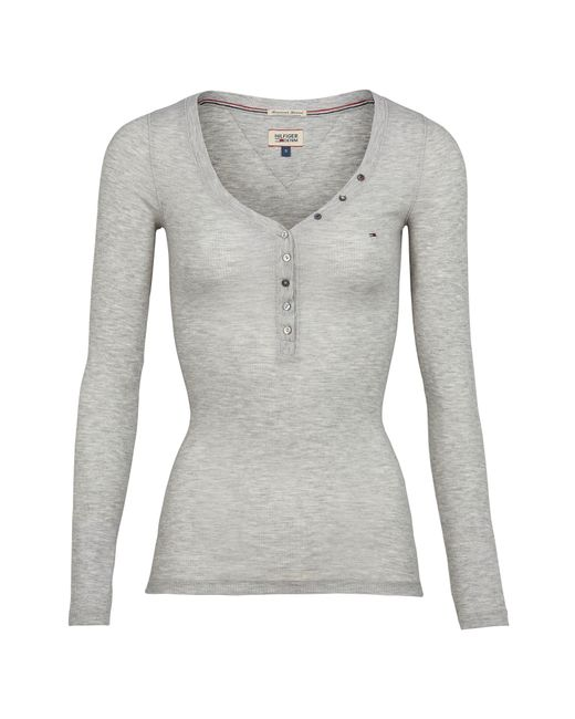 Tommy Hilfiger | Gray Lola Henley Top | Lyst