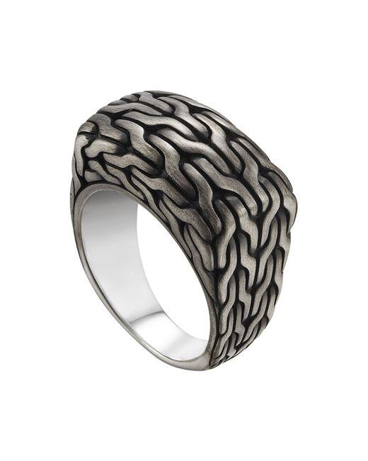 John Hardy | Metallic Men's Classic Chain Signet Ring | Lyst
