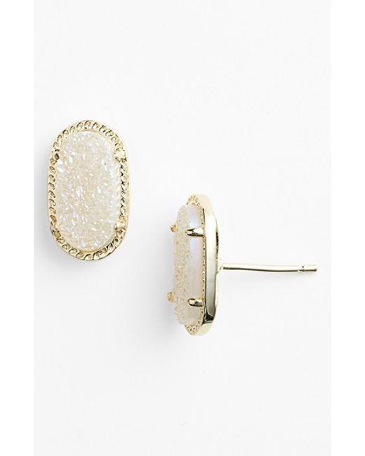 Kendra Scott | Metallic 'ellie' Oval Stud Earrings | Lyst
