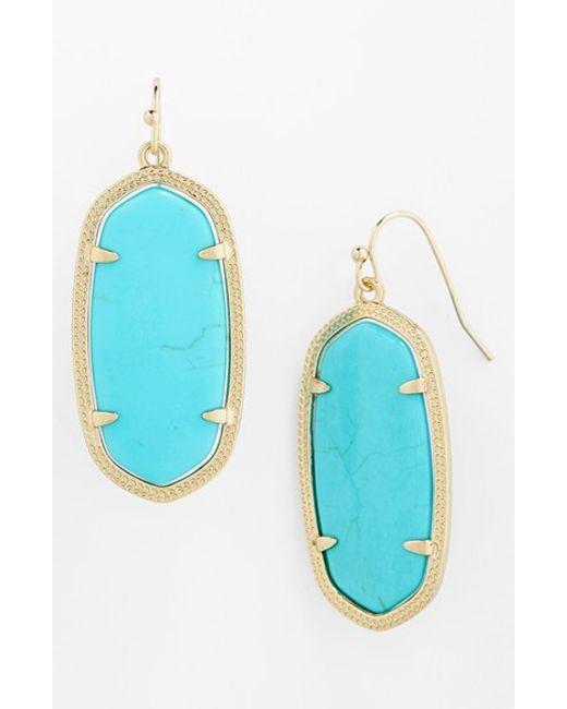 Kendra Scott | Blue 'elle' Drop Earrings | Lyst