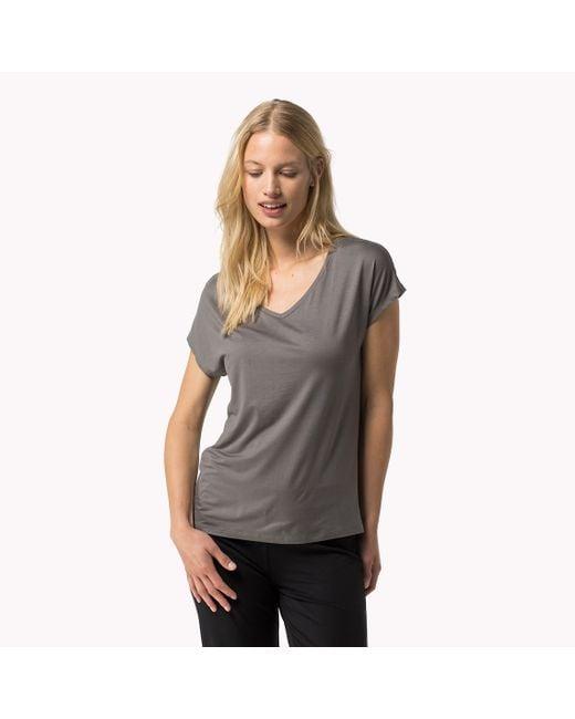 Tommy Hilfiger   Gray Modal Stretch V-neck T-shirt   Lyst