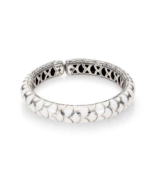 John Hardy   Metallic Naga Enamel & Sterling Silver Slim Flex Cuff Bracelet   Lyst