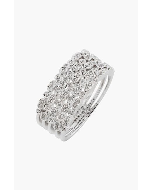 Bony Levy | Metallic 'cypress' 5-row Diamond Ring (limited Edition) (nordstrom Exclusive) | Lyst