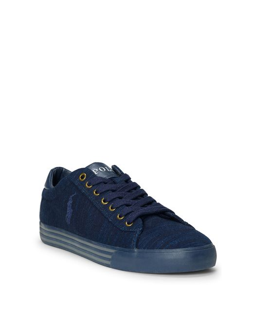 polo ralph lauren harvey indigo knit sneaker in blue dark indigo. Black Bedroom Furniture Sets. Home Design Ideas