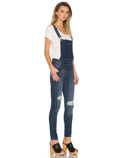 Cheap monday Dungaree Overall in Blue (Carbon Blue) | Lyst