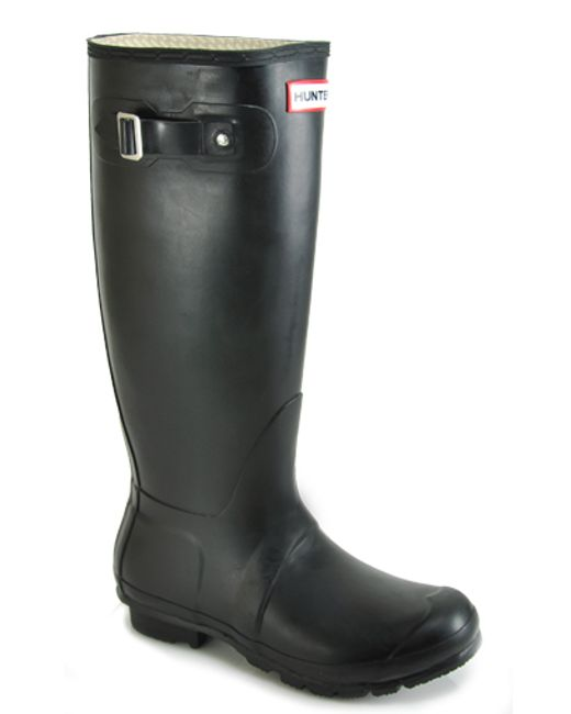 Hunter | Black Rubber Rain Boot | Lyst