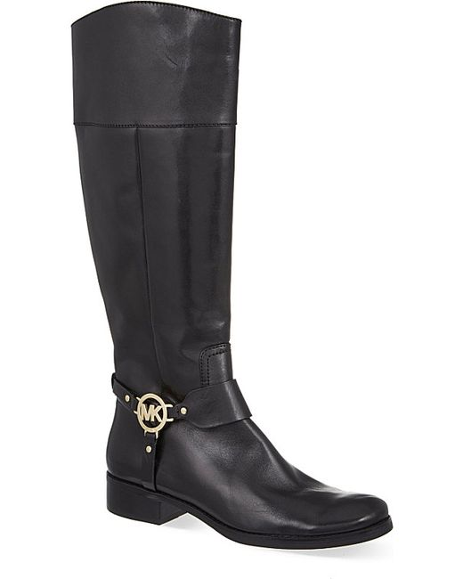 michael michael kors fulton knee high boots in black lyst