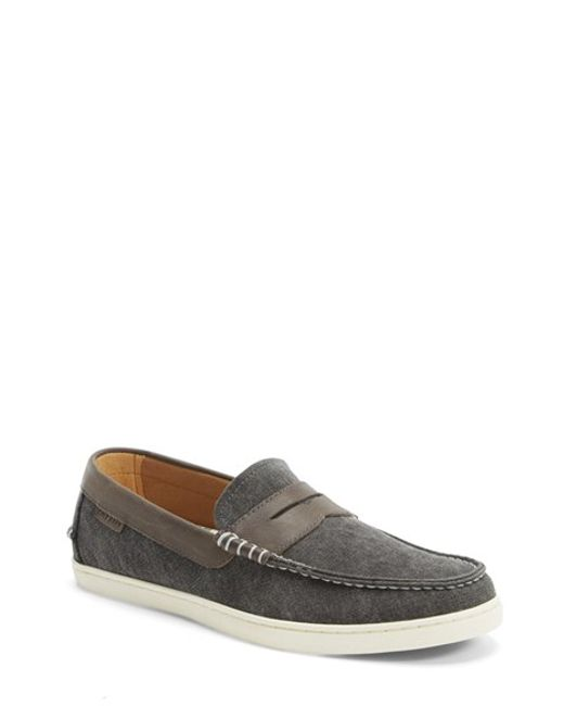 Cole Haan | Black 'pinch Weekender' Canvas Penny Loafer for Men | Lyst