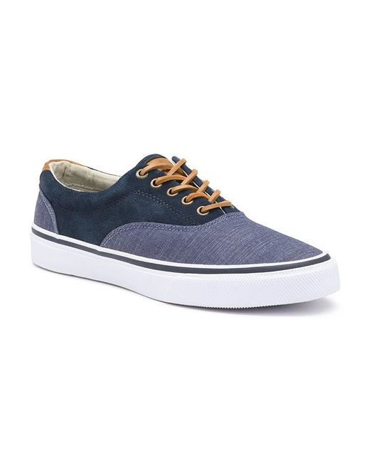 gh bass amp co classic compass sneaker in blue for men