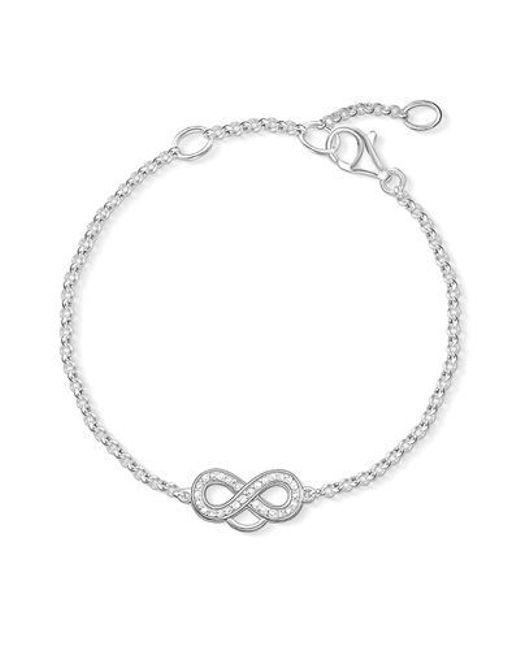 Thomas Sabo | Metallic Pave Crystal Infinity Bracelet In Sterling Silver | Lyst