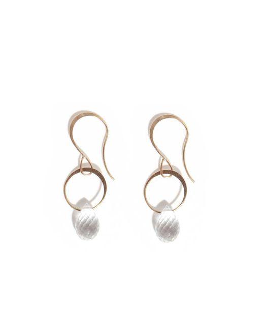 Melissa Joy Manning | Metallic White Topaz Drop Earrings | Lyst
