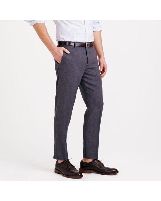 J.Crew - Blue Ludlow Traveler Suit Pant In Italian Wool ...