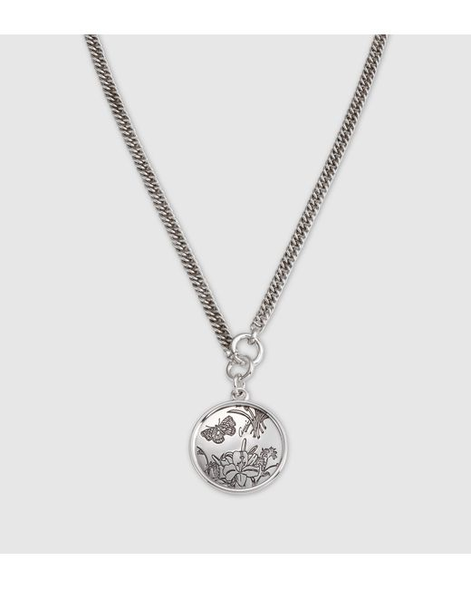 Gucci | Metallic Interlocking Pendant Necklace for Men | Lyst