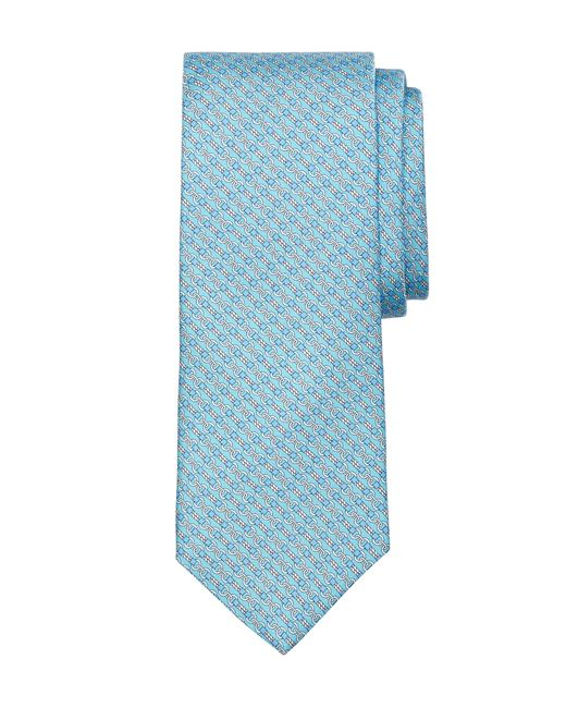 Brooks Brothers | Blue Rope Bit Link Print Tie for Men | Lyst