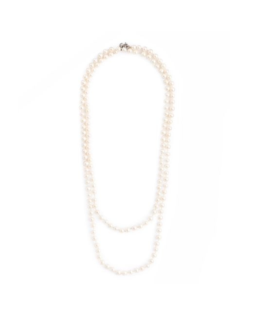 J.Crew | White Opera-length Pearl Necklace | Lyst