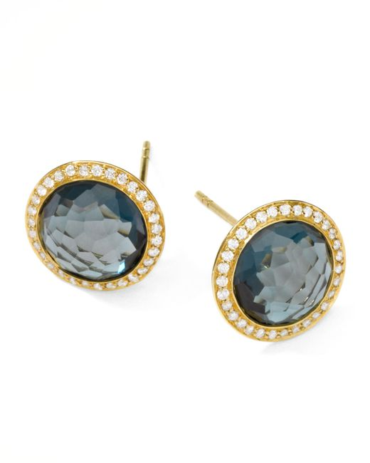 Ippolita | Metallic Rock Candy 18k Gold Lollipop Diamond Stud Earrings | Lyst