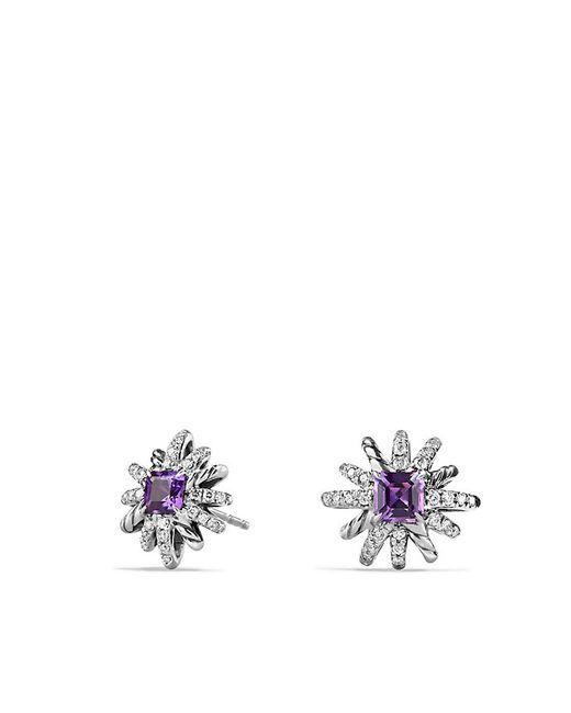 David Yurman | Purple Starburst Earrings With Amethyst And Diamonds, 12mm | Lyst