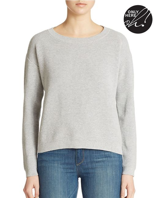 Lord & Taylor | Gray Combed Cotton Pullover | Lyst