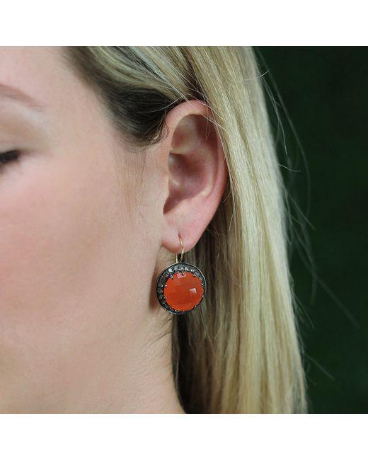 Andrea Fohrman | Carnelian And Gray Sapphire Button Earrings | Lyst