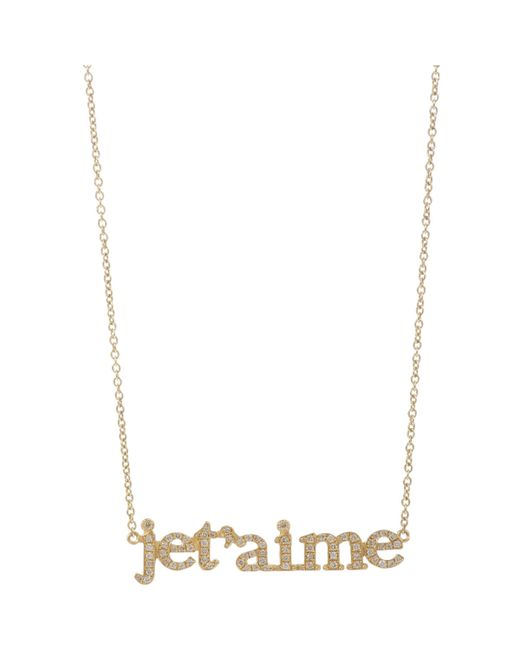 meyer je t aime pendant necklace in gold