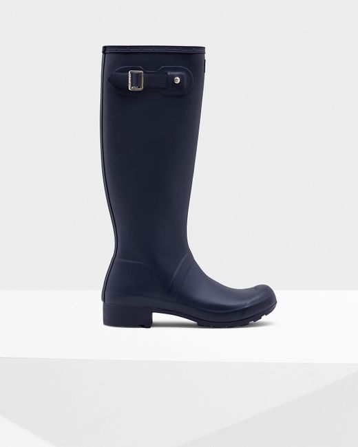 Hunter | Blue Women's Original Tour Rain Boots | Lyst