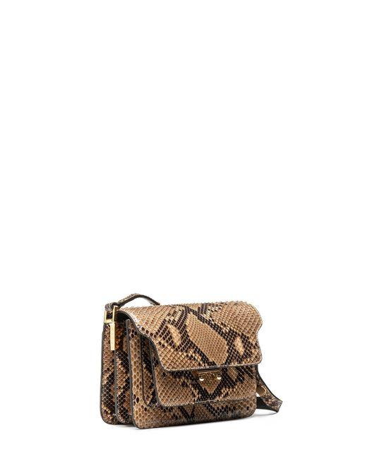 Marni | Multicolor Mini Trunk Bag In Shiny Python | Lyst