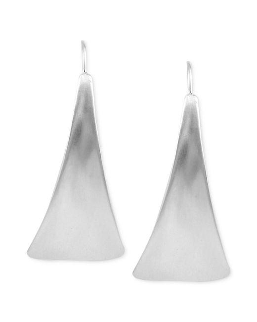 Robert Lee Morris | Metallic Silver-tone Sculptural Petal Linear Earrings | Lyst