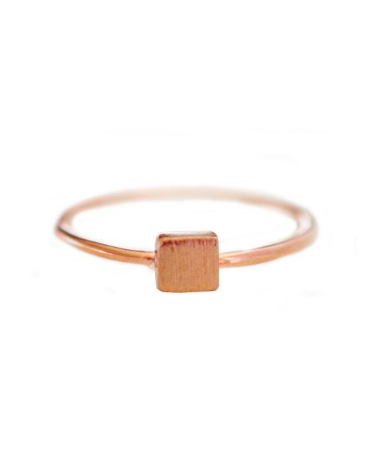 Cloverpost | Pink Mini Square Ring | Lyst