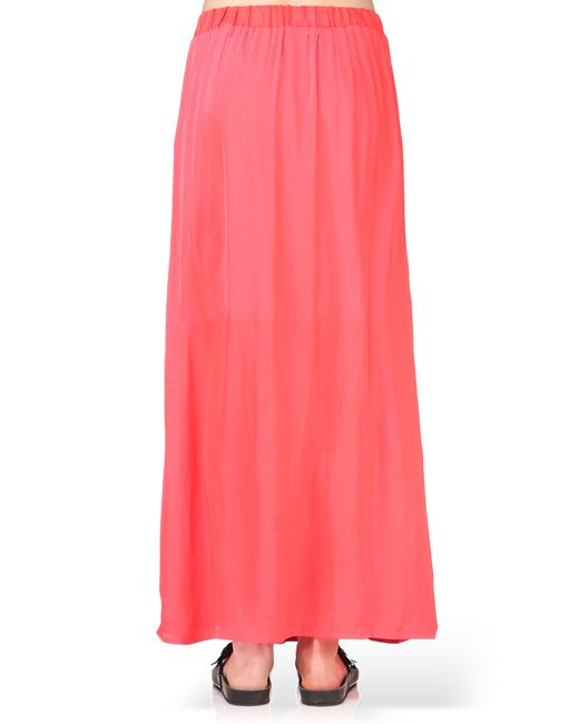 y a s midi skirt maxi skirt in pink lyst