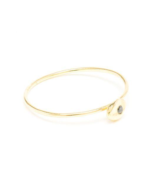 Natasha Collis   Metallic Slim 18kt Gold And Black Diamond Ring   Lyst