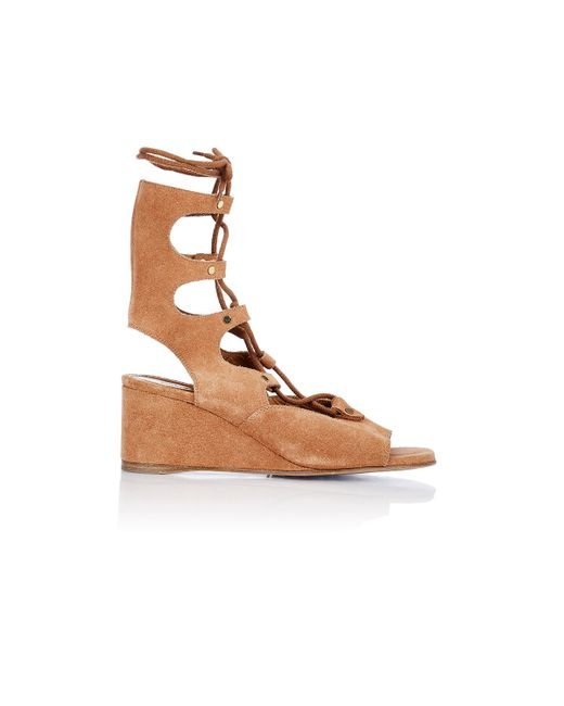 Chloé | Brown Crosta Castoro Sandals | Lyst