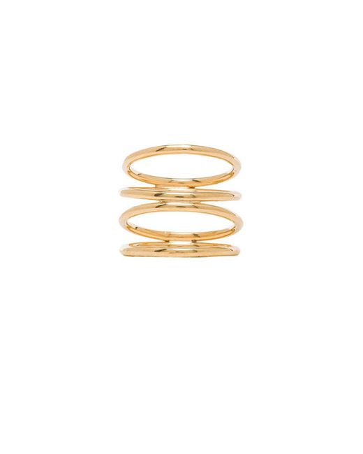Joolz by Martha Calvo | Metallic Staircase Ring | Lyst
