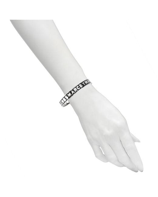 Marc By Marc Jacobs | Black Logo Bangle Bracelet | Lyst